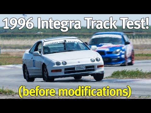 1996 DC2 Integra Baseline Track Test at Buttonwillow Raceway