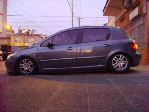peugeot 307 con suspension neumatica bzstyle - youtube