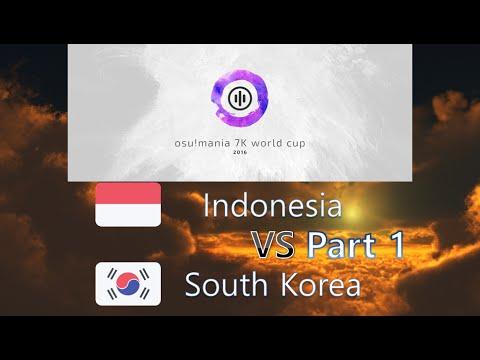 osu! Mania 7K World Cup 2016 Quarterfinals - Match L - Indonesia vs South Korea Part 1