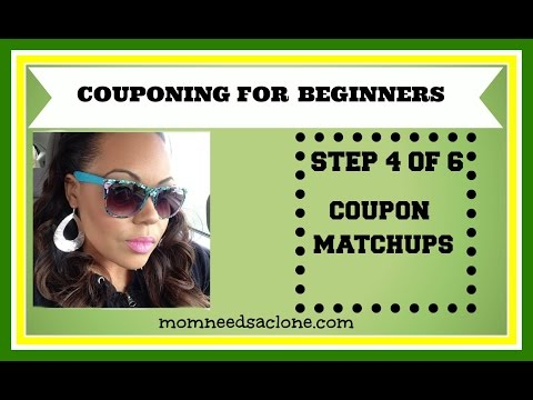 COUPONING FOR BEGINNERS: COUPON MATCHUP SITES (STEP 4)