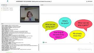 Assessment for Learning: Setting aims and criteria for success