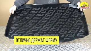 видео Автомобильный пластиковый коврик в багажник
