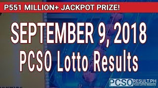 PCSO Lotto Results Today September 9, 2018 (6/58, 6/49, Swertres, STL & EZ2)