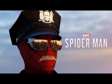 """Unused """"Spider-Cop"""" Suit in Spider-Man PS4 (Mod)"""