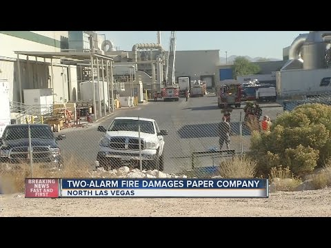 Two-alarm fire at Clearwater Paper in North Las Vegas is out
