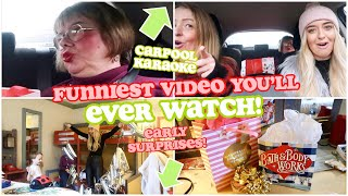 CARPOOL KARAOKE & EARLY SURPRISES... the FUNNIEST video you will EVER watch lol