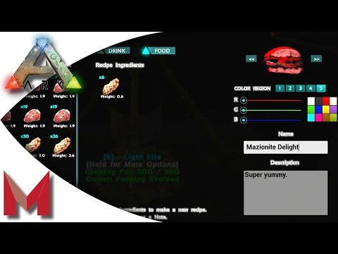 ARK: Survival Evolved - Cooking Recipe - Mazionite Delights! S2E109 Gameplay