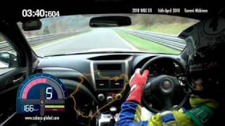 Subaru WRX STI sedan Nurburgring record lap with Tommi Mäkinen - on-board footage