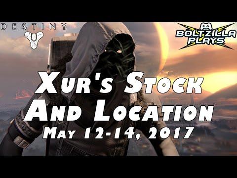 Destiny: Xur Location May 12-14 2017