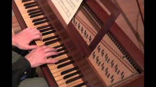 Bach - famous Minuet in G major. SF Christo, harpsichord.