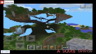 "Minecraft PE Seeds: #2 ""its a pig"" Epic Floating Island!"