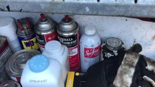 Tools in my mobile tire service truck