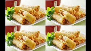 طريقة عمل اصابع الجلاش بشاورما الدجاج - سبرنج رول  cooking  recipes  food - Mai Ismael Channel