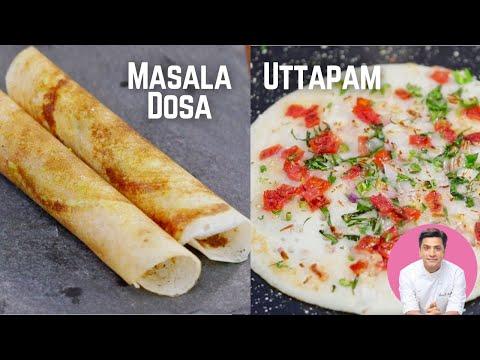 Authentic Masala Dosa Recipe, Uttapam & Coconut Chutney   Kunal Kapur South Indian Breakfast Recipes