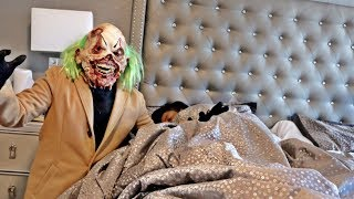 SCARY CLOWN PRANK ON WIFE GONE WRONG!