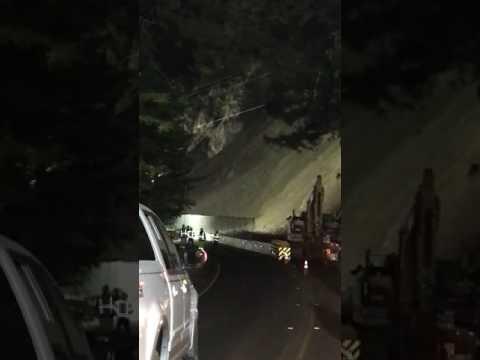 Caltrans Workers Run From Highway 101 Landslide