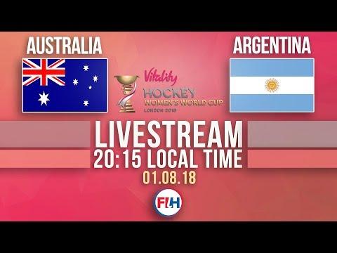 Australia V Argentina | 2018 Hockey Women's World Cup | FULL MATCH LIVESTREAM