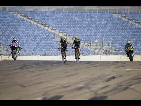 Movistar Yamaha MotoGP meets Movistar cycling team