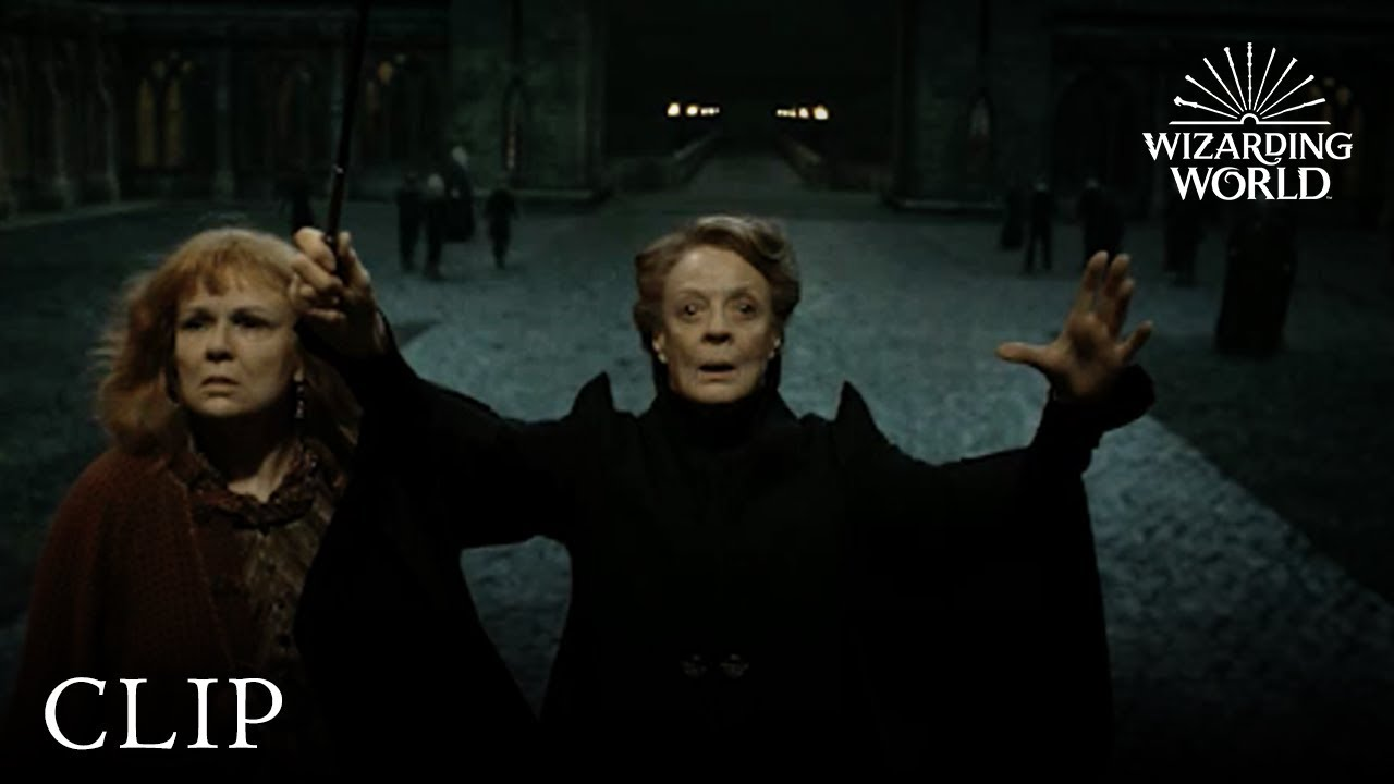 Professor McGonagall Protects Hogwarts | Harry Potter and the Deathly  Hallows Pt  2