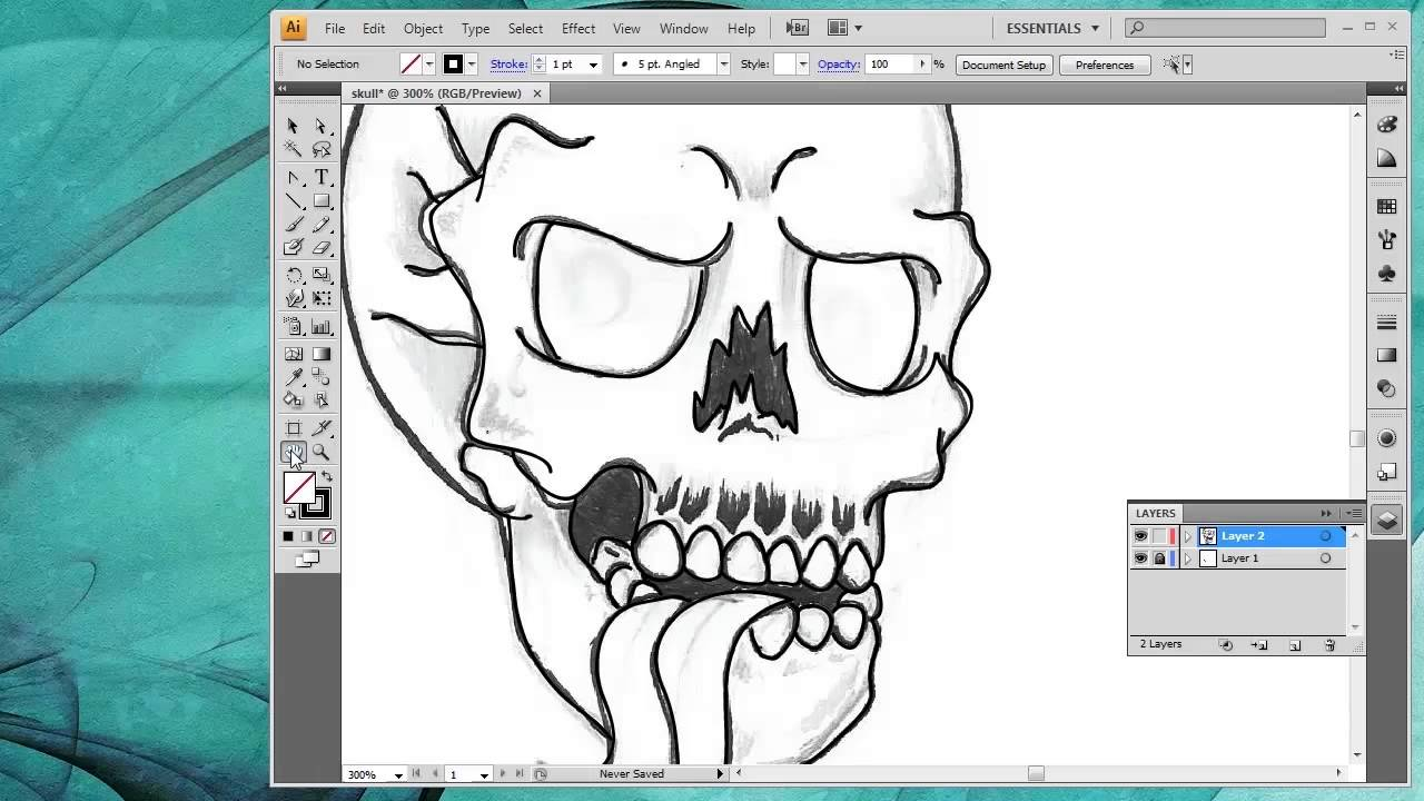 Drawing Lines With Adobe Illustrator : How to convert a drawing into vector art inside adobe
