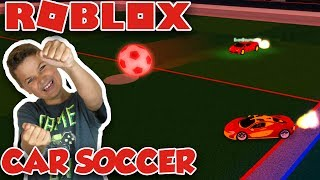 PLAYING CAR SOCCER in ROBLOX VEHICLE SIMULATOR | CRAZY GAME MODE LIKE ROCKET LEAGUE