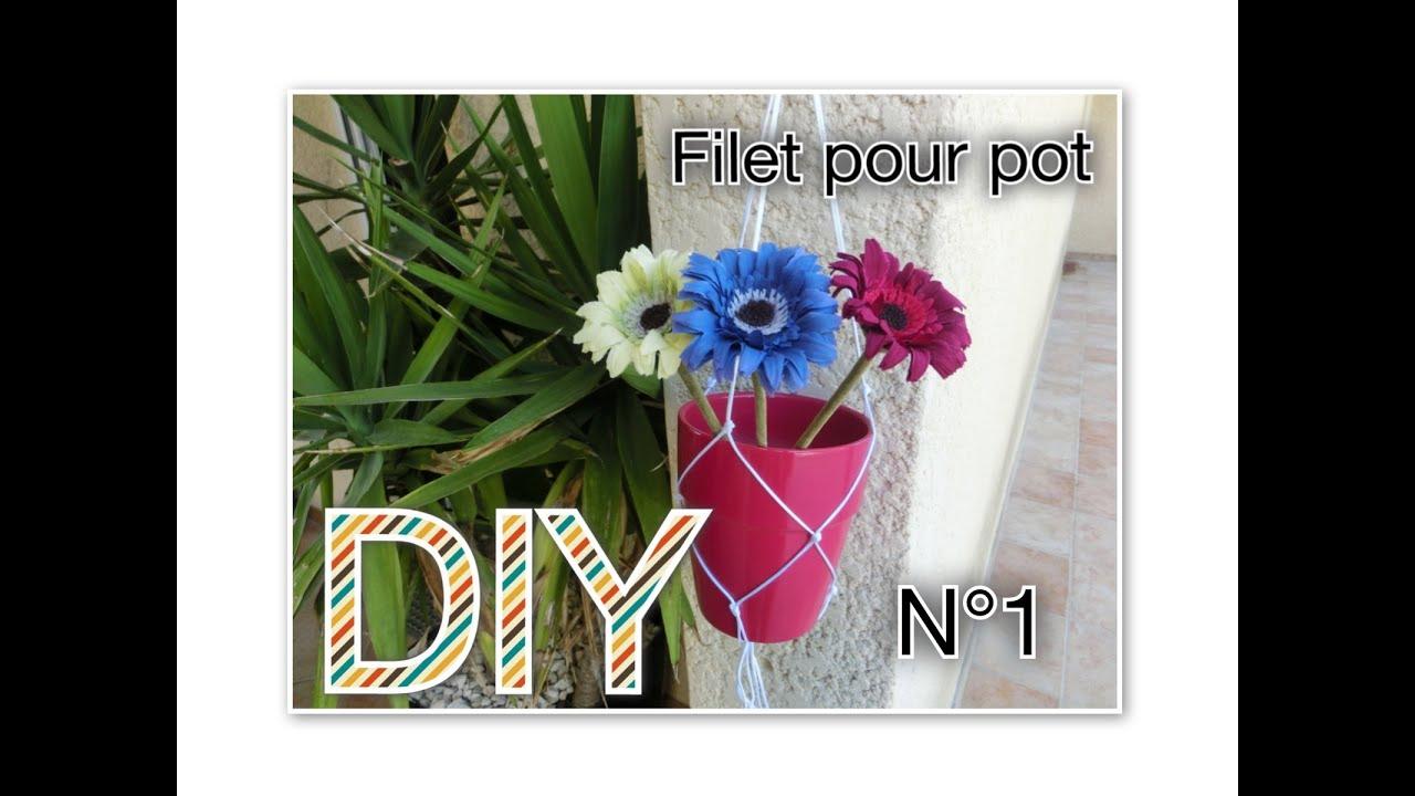 Diy Filet En Macrame Pour Pot Tuto N 9 Youtube