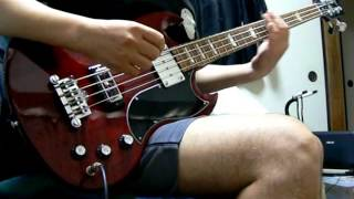 This is a demonstration of Gibson SG Standard Bass Heritage Cherry....