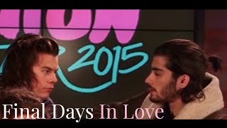 Zayn And Harry's Final Days Together