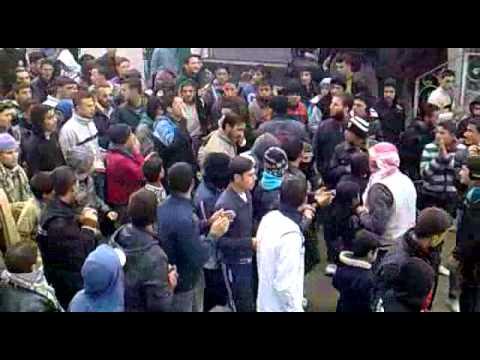 مظاهرة جمعة دعم الجيش السوري الحر درعا - جباب 13-1-2012 ج2