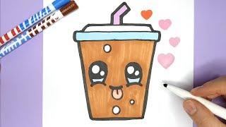 Kawaii Soda malen und Zeichnen -  Kawaii Coca Cola