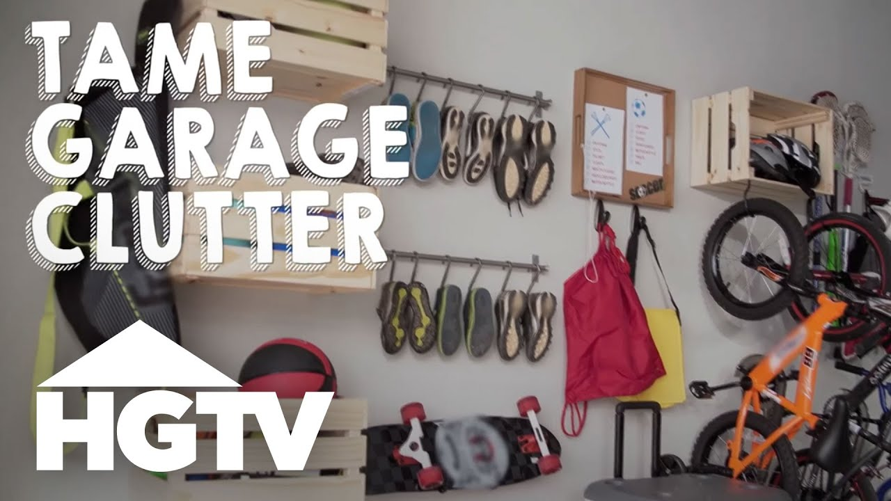 how to organize garage clutter hgtv - Organize Garage