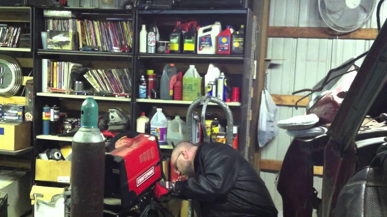 Mig Welding With Shielding Gas Part 1 Set Up Youtube Century Welder Model 20511