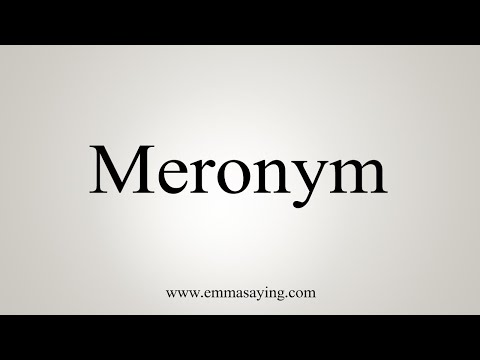 How To Pronounce Meronym