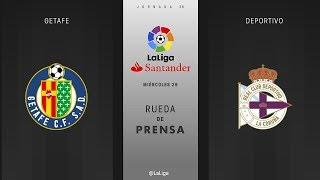 Rueda de prensa Getafe vs Deportivo