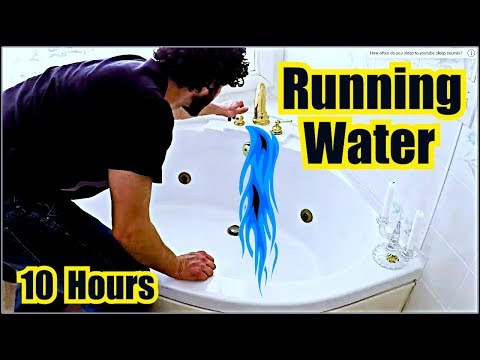 ✪ RUNNING WATER SOUND EFFECT IN A BATHTUB ✪ Water Sounds = 1