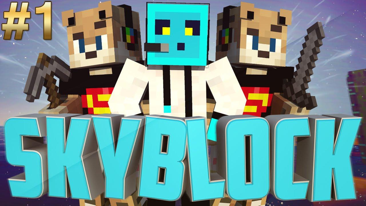 Minecraft Skyblock Bölüm 1 Cobblestone Youtube