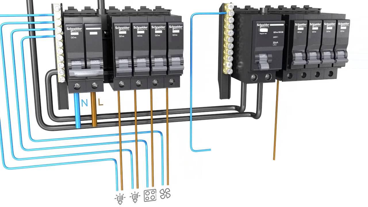 schneider electric split bus consumer unit wiring youtube consumer unit wiring split bus consumer circuit diagrams [ 1280 x 720 Pixel ]