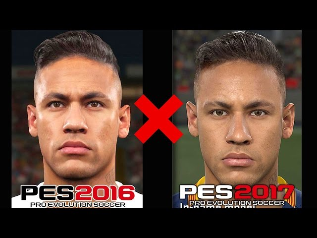 PES 2016 x PES 2017 - Comparando os gráficos