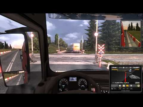 EURO TRUCK SIMULATOR 2 GAMEPLAY G27 (PART 1) 1080p HD (GREEK COMMENTARY)