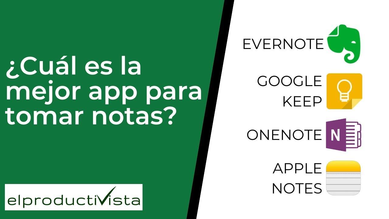 ¿Cuál es la mejor app de notas? ¿Evernote, OneNote, Google Keep o Apple Notes? - YouTube