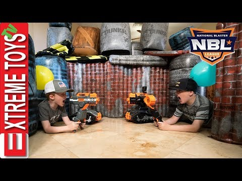 National Blaster League Training with Nerf Drones! Plus NBL Trailer!
