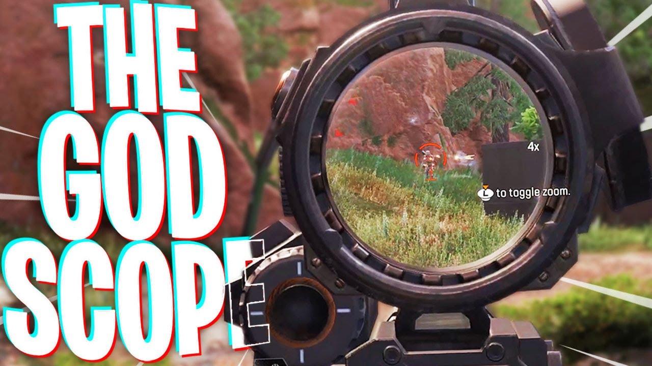 The God Scope on the Single Fire Hemlok! - PS4 Apex Legends