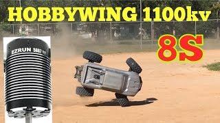 Hobbywing 1100kv 5687 motor test in the Xmaxx