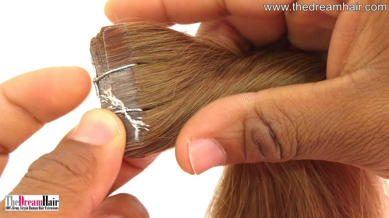 Tape In Hair Extensions Straight Youtube