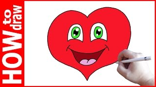 How to draw Cute Heart Smiley Face, Как нарисовать сердечко(INSTAGRAM: https://www.instagram.com/dmitrysyrman/ Я в ВКОНТАКТЕ: http://vk.com/syrman_d Группа в ВКОНТАКТЕ: http://vk.com/public59608073 I'm on ..., 2016-12-14T06:27:31.000Z)