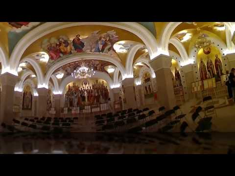 Touring the crypt in the Church of Saint Sava in Belgrade, Serbia (360 video)
