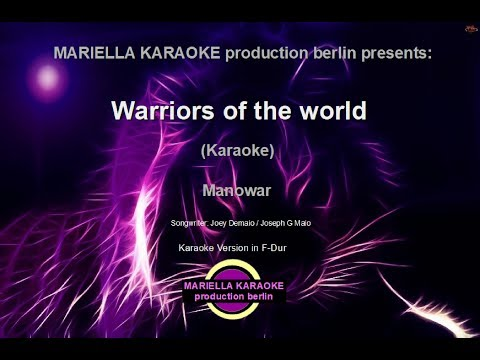 Manowar   Warriors Of The World (Karaoke Version)