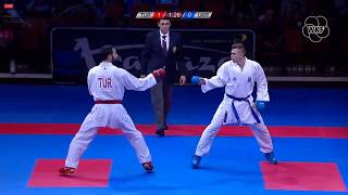 53rd EKF Senior Championships - Kumite Male -84Kg - U. Aktas (TUR) - V. Chobotar(UKR)