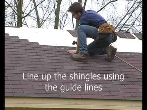 Applying The Log Cabin Felt Roof Shingles Youtube