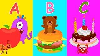 A B C | Aprender Con Diversión | a B y C las Palabras - Lindo Bebé de Animales y Animaciones de dibujos animados